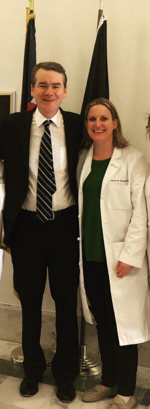 Dr. Emily Schneider met with political leaders like Colorado Senator and presidential candidate Michael Bennet to discuss women's health and physician advocacy | CU Rocky Mountain OB-GYN | Denver